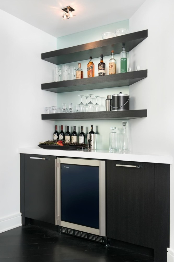 Floating Bar Shelves