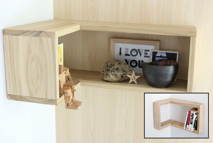 Floating Corner Shelves Diy