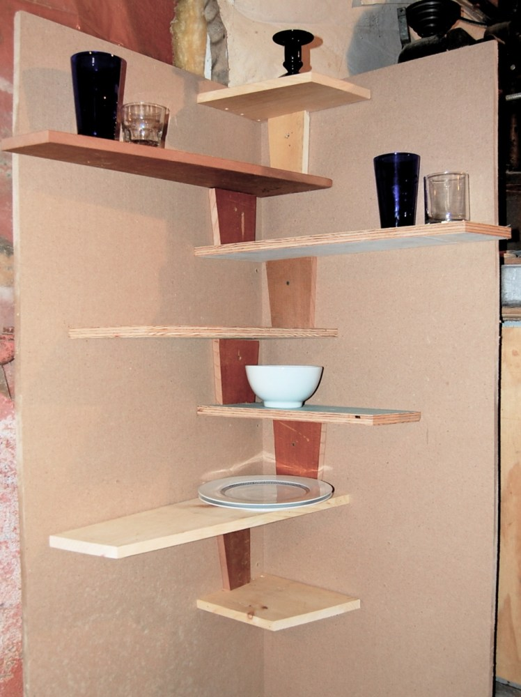 Floating Corner Shelves Kitchen