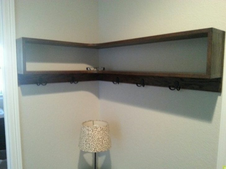 Floating Corner Wall Shelves