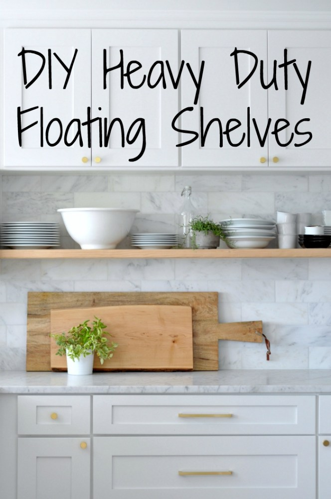 Floating Kitchen Shelves Diy