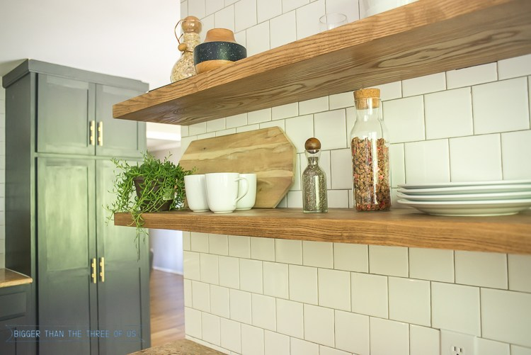 Floating Kitchen Shelves