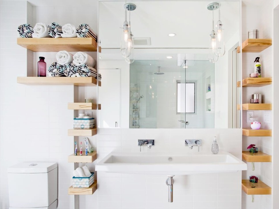 Floating Shelves Bathroom Storage