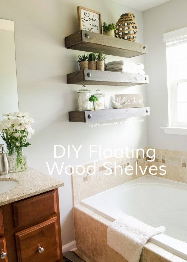 Floating Shelves Bathroom