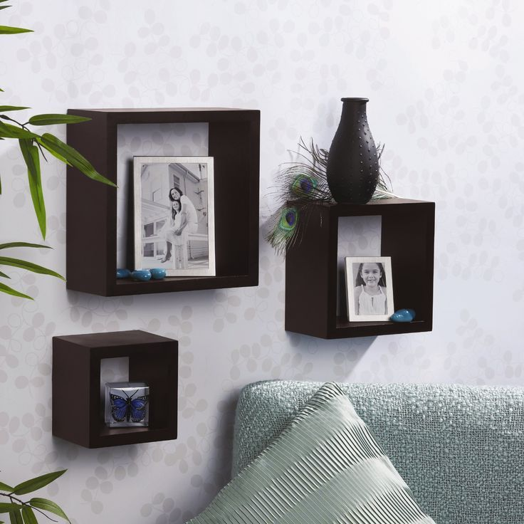 Floating Shelves Espresso Set