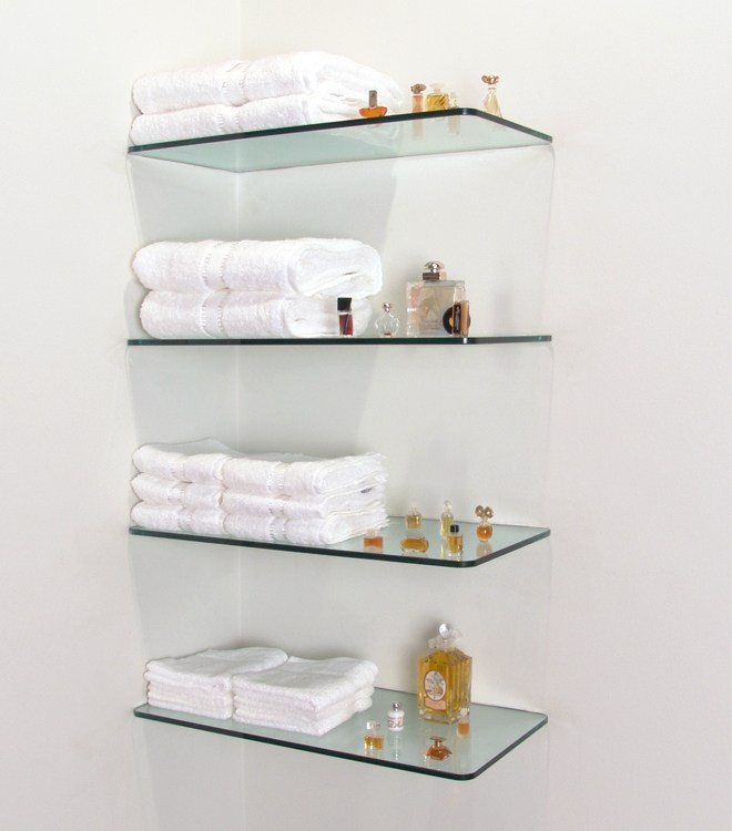 Floating Shelves Glass