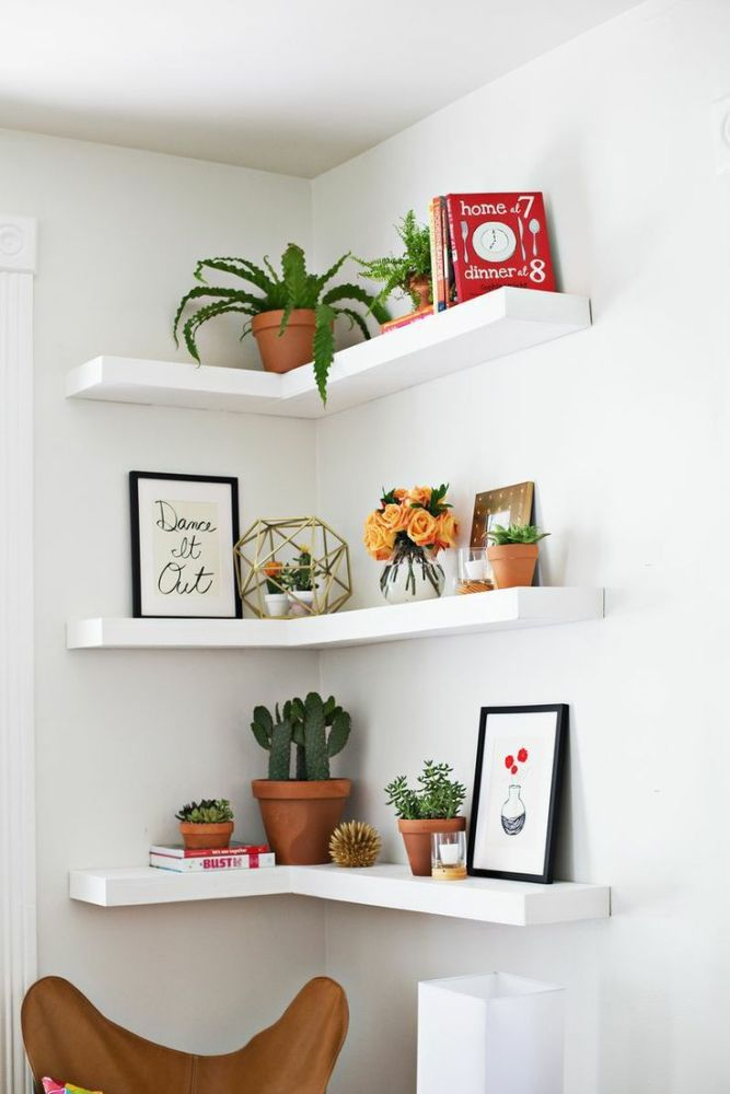 Floating Shelves White