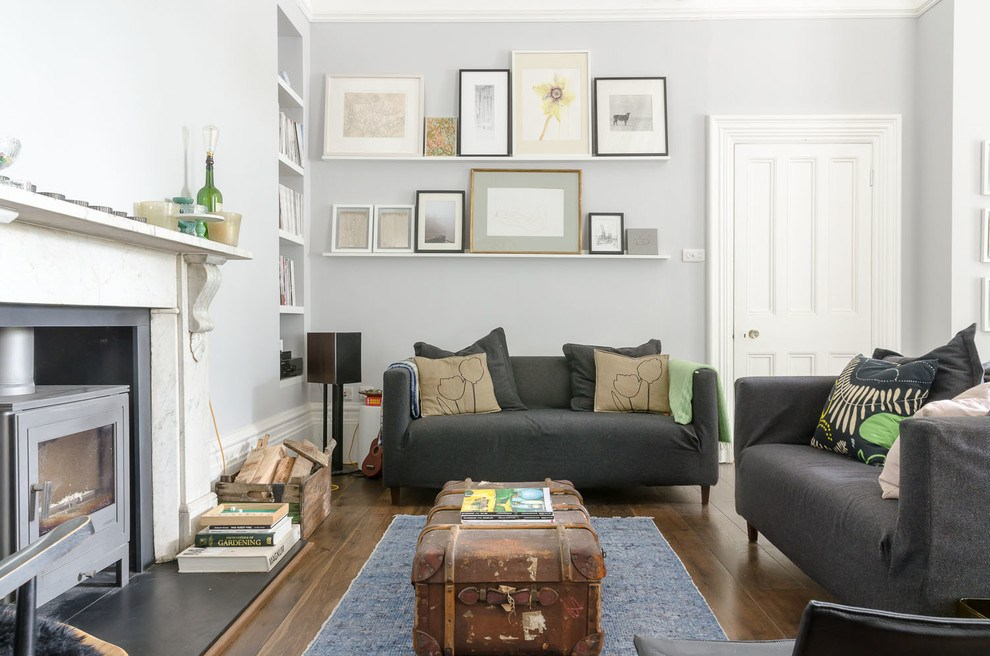 Floating Shelves With Picture Frames