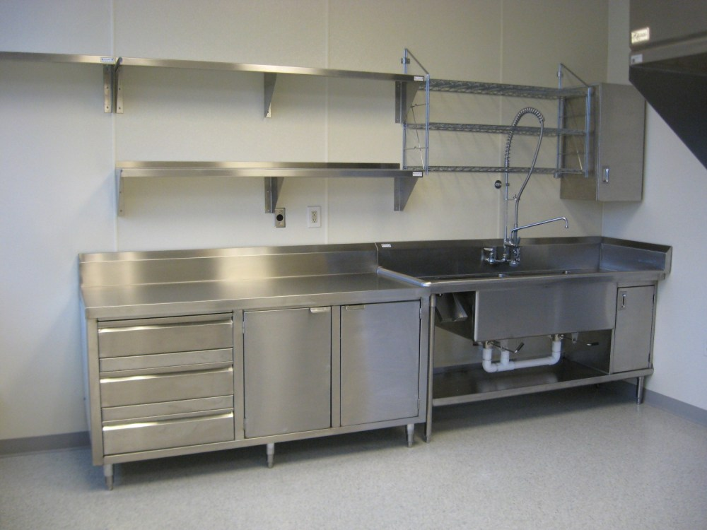 Floating Stainless Steel Kitchen Shelves
