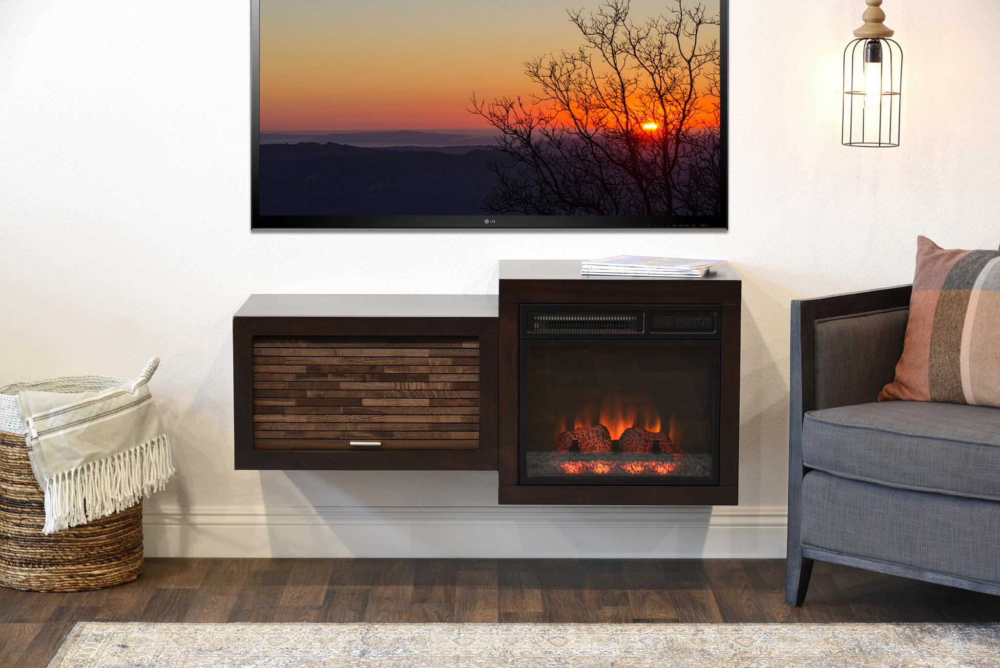 Floating Tv Stand With Fireplace