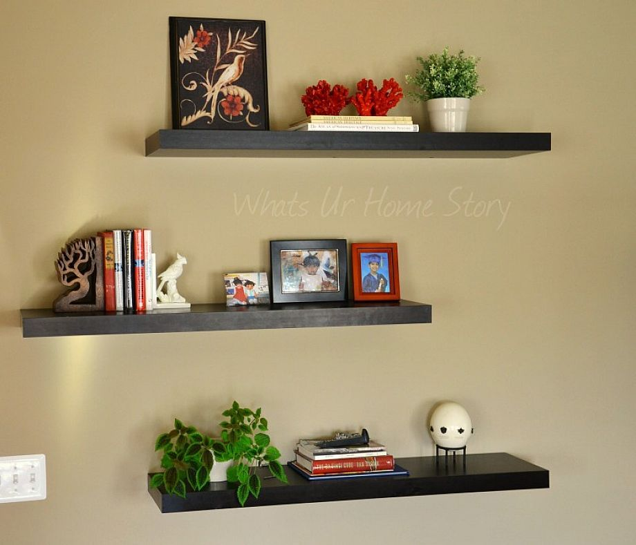 Floating Wall Shelves Bedroom