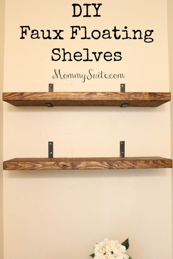 Floating Wood Shelves Diy