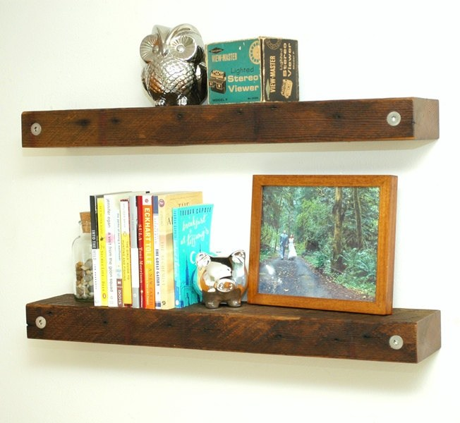Floating Wood Shelves