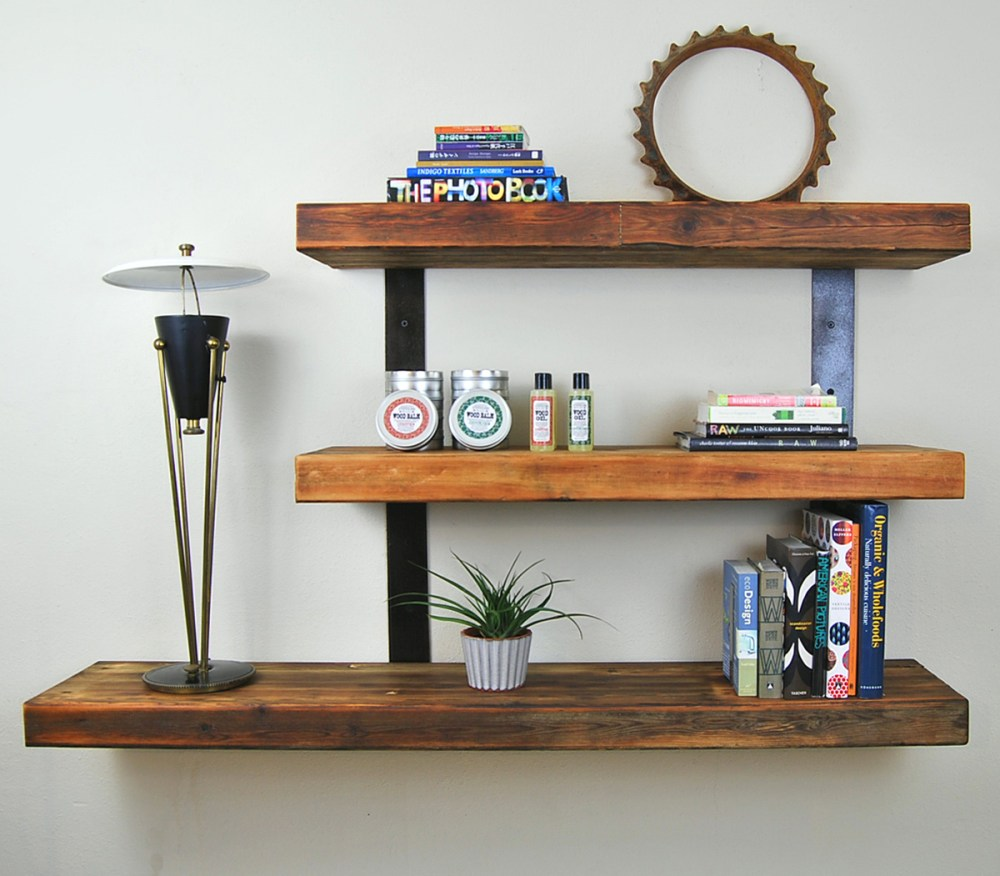 Floating Wooden Shelves Diy