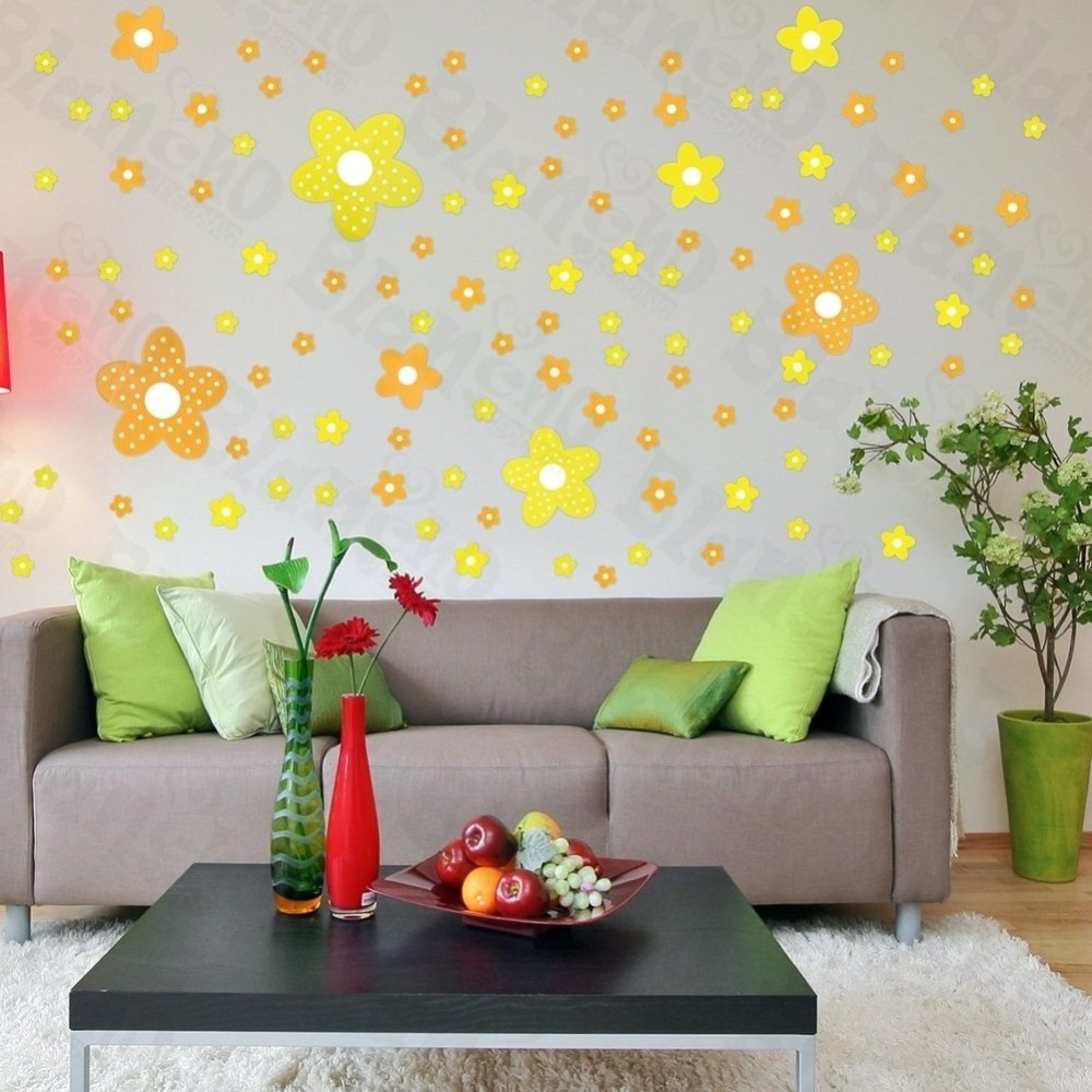 Floral Wall Decals Appliques