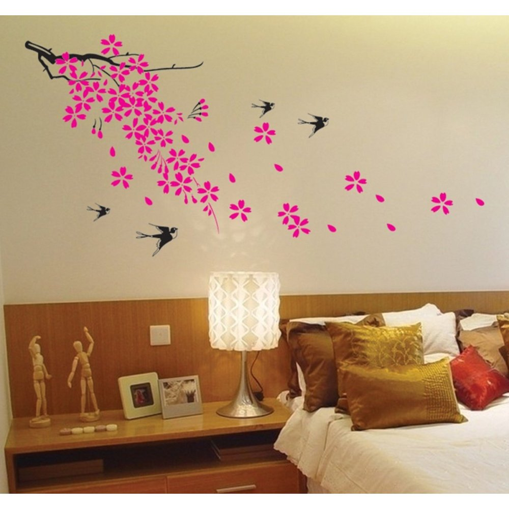 Flower Wall Decals For Bedroom