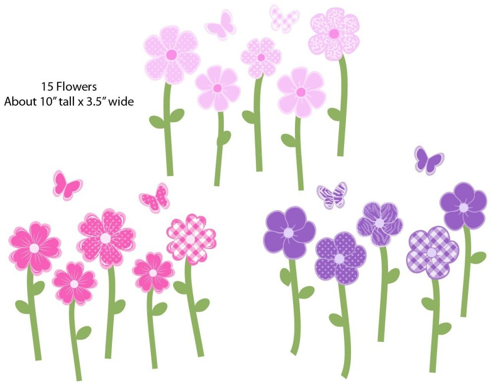 Flower Wall Decals For Nursery