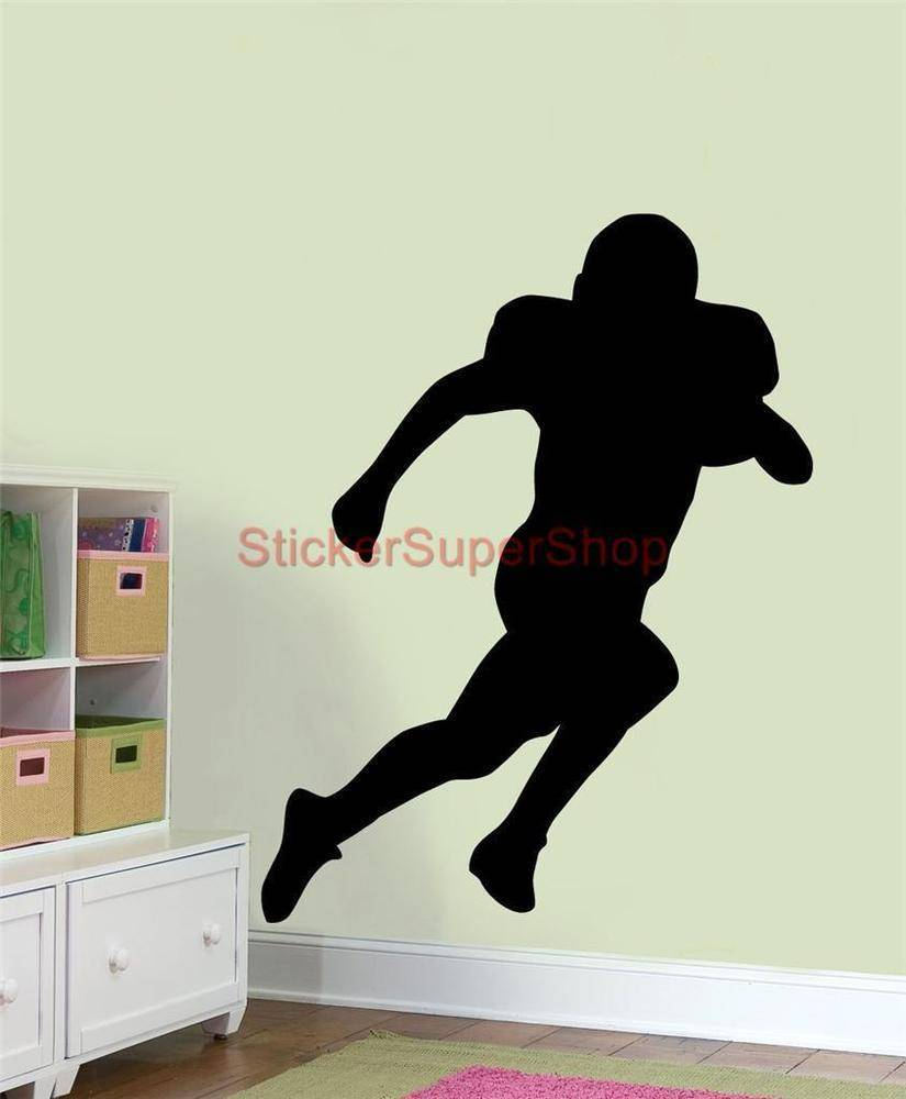 Football Player Silhouette Wall Decal