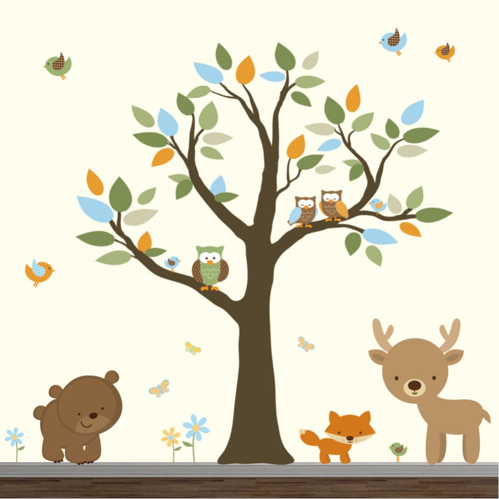 Forest Wall Decals Nursery