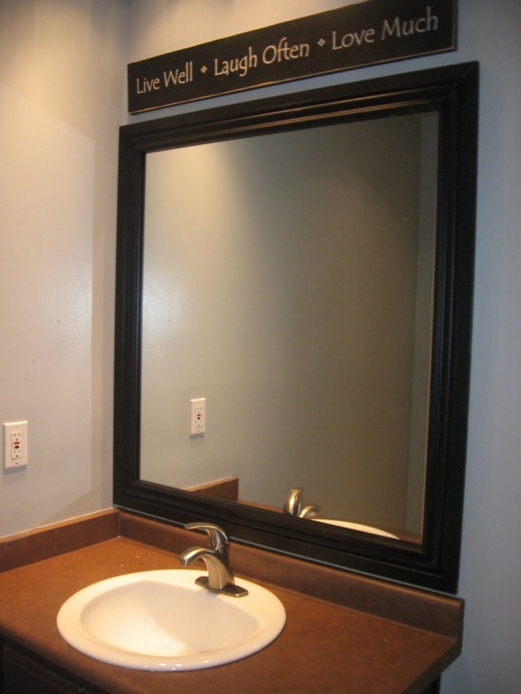 Frame For Bathroom Mirror Diy
