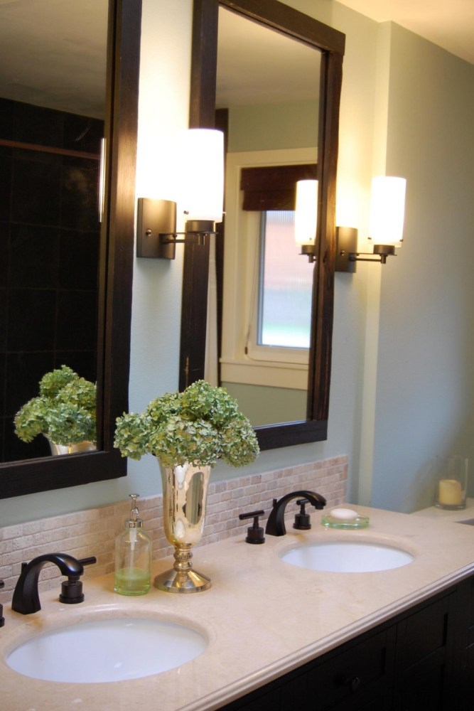 Framed Mirror Bathroom Vanity