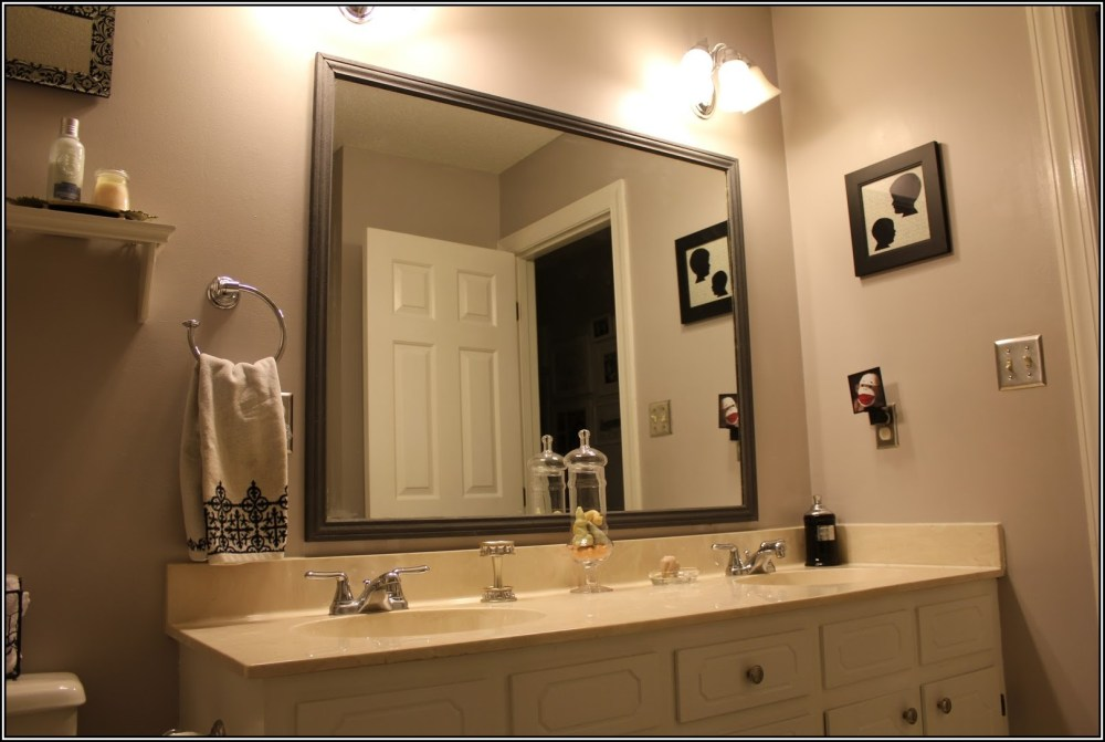 Framing A Bathroom Mirror That Has Clips