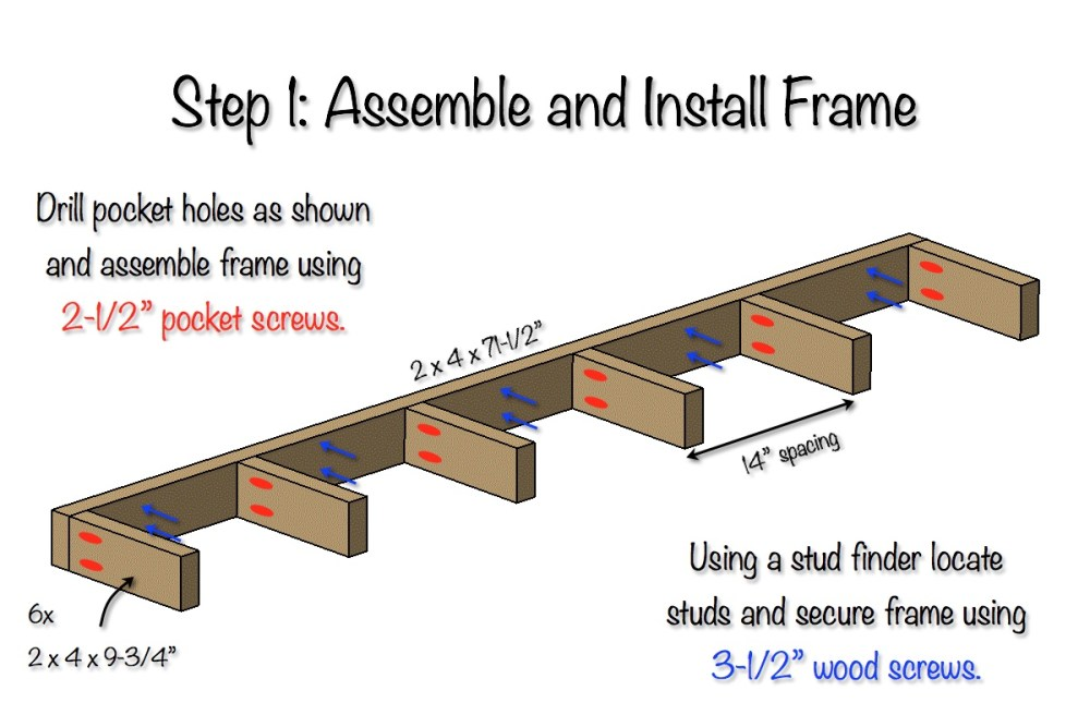 Free Floating Shelves Plans