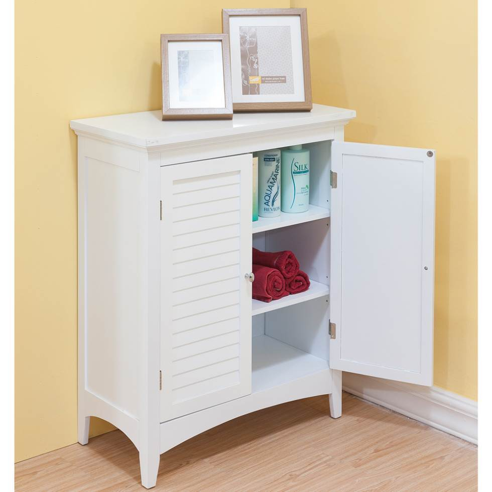 Freestanding Bathroom Cabinet White Gloss