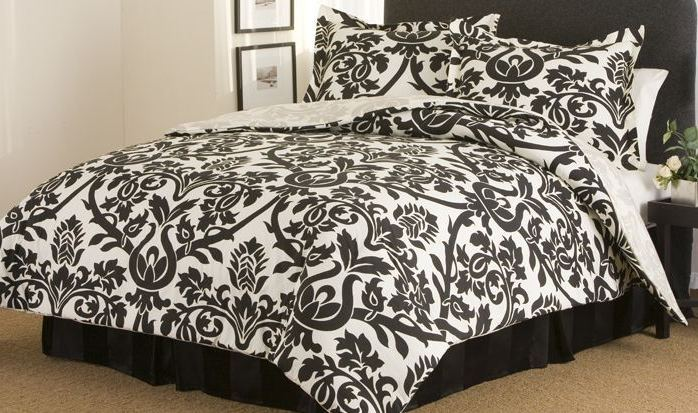 Full Size Comforter Sets Black And White
