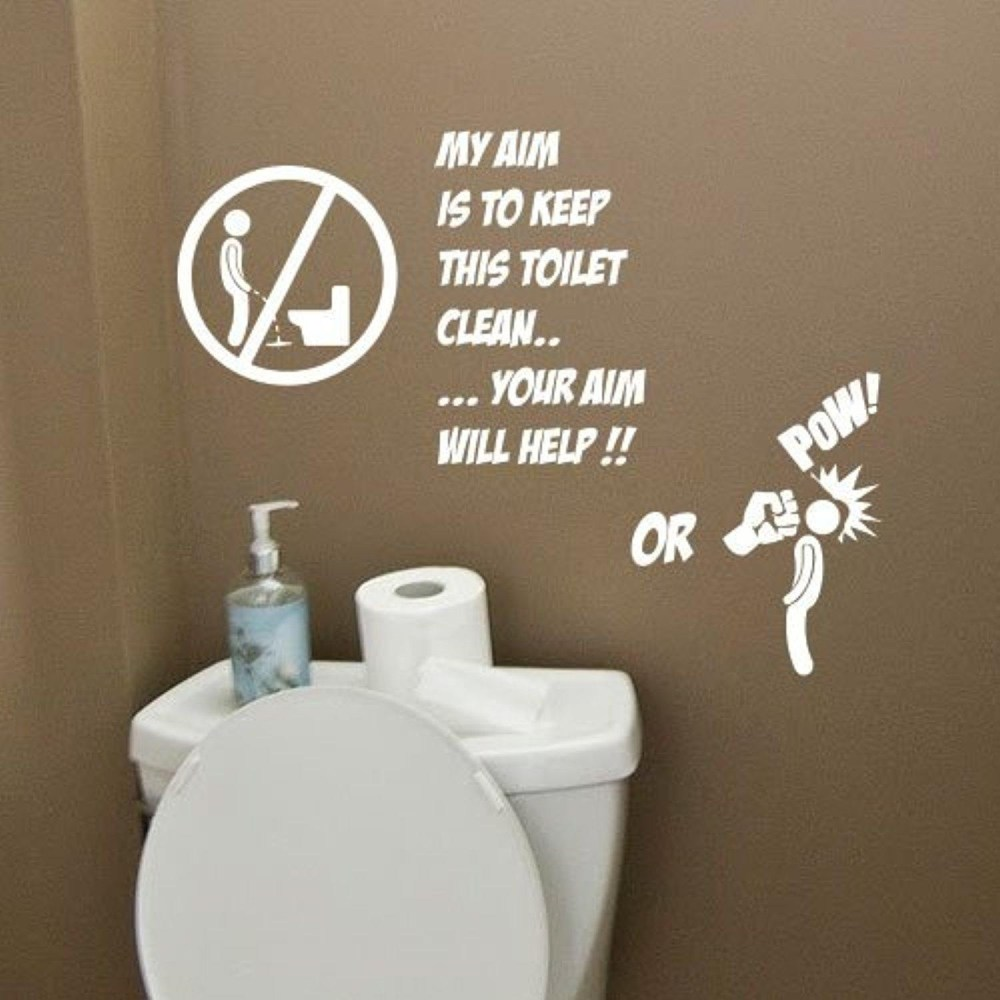 Funny Bathroom Wall Decals