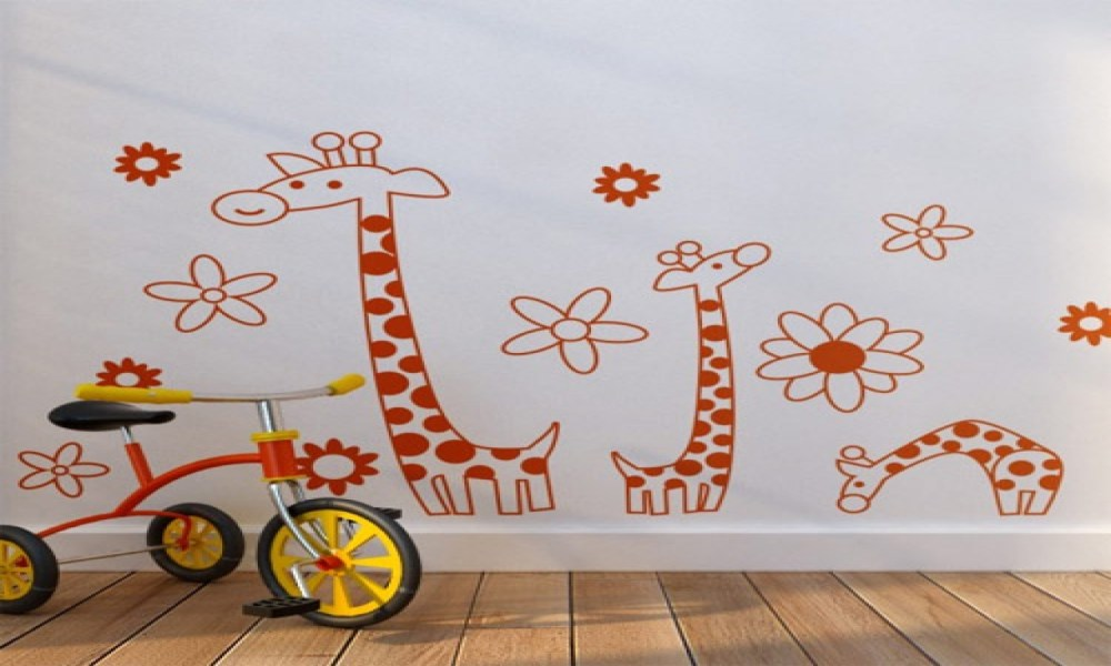 Giant Giraffe Wall Decal