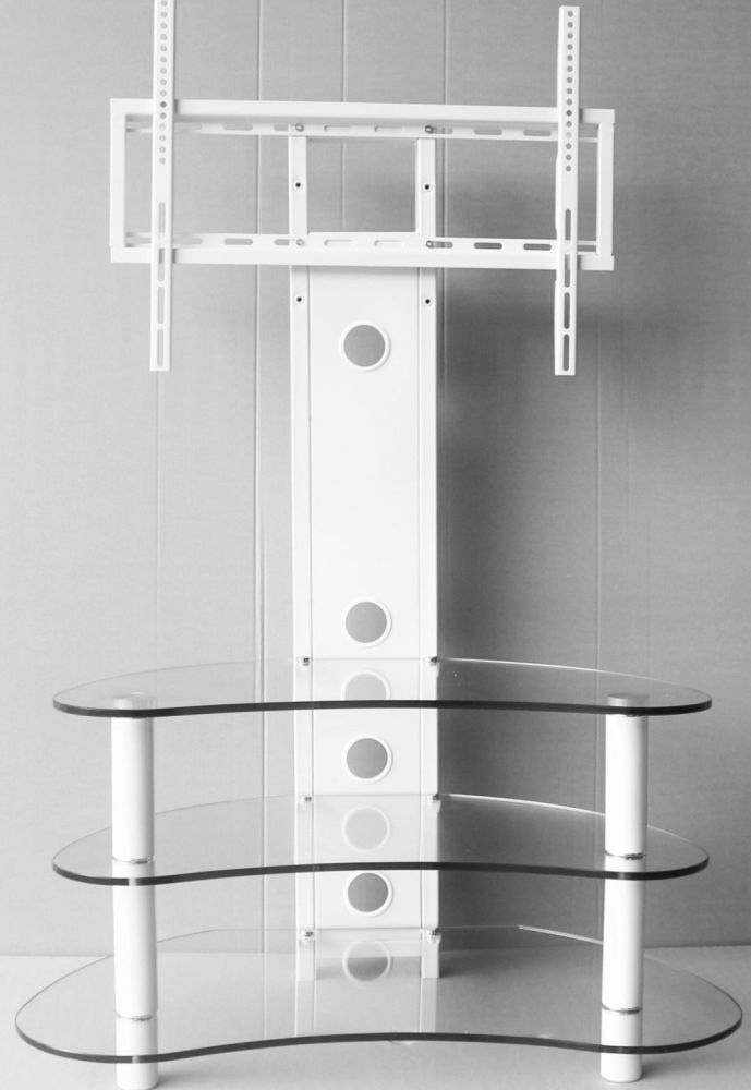 Glass Corner Tv Stand 55