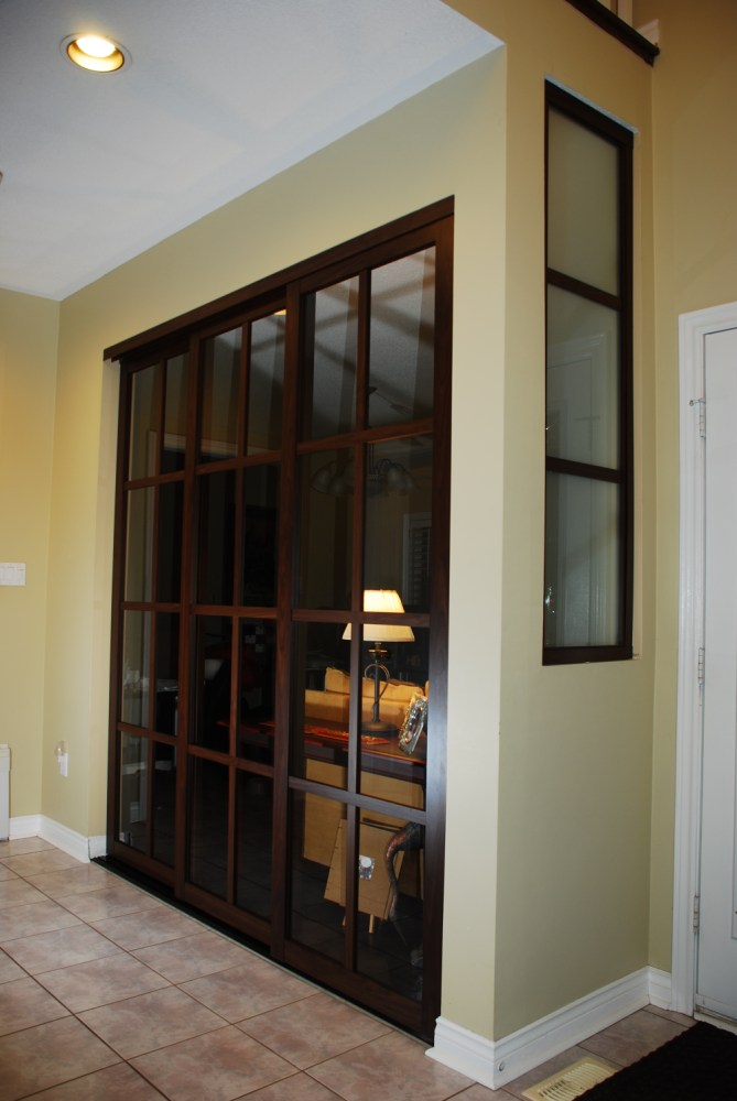 Glass Panel Room Divider
