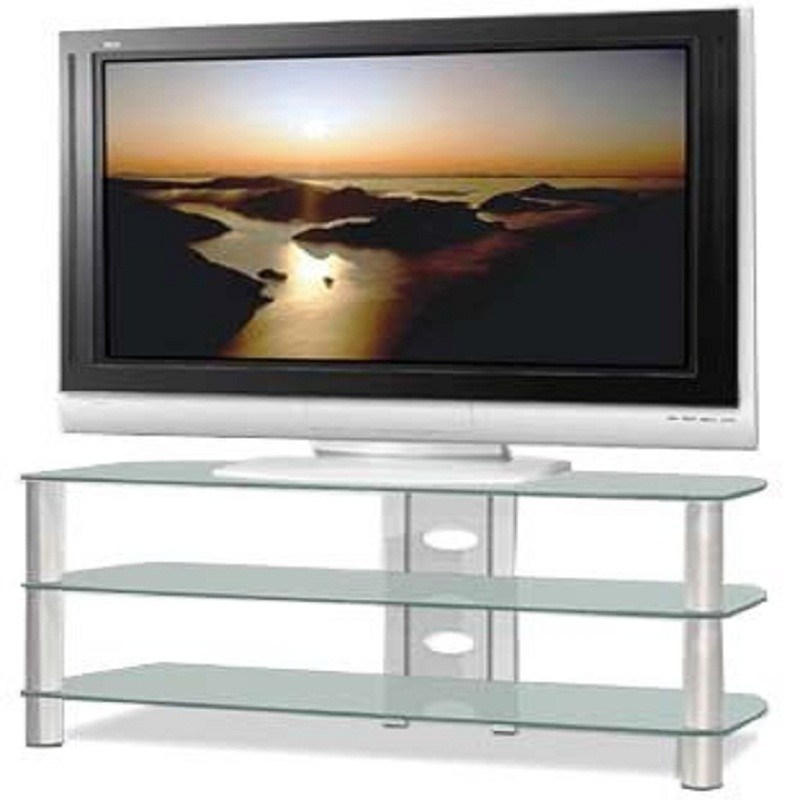 Glass Silver Tv Stand