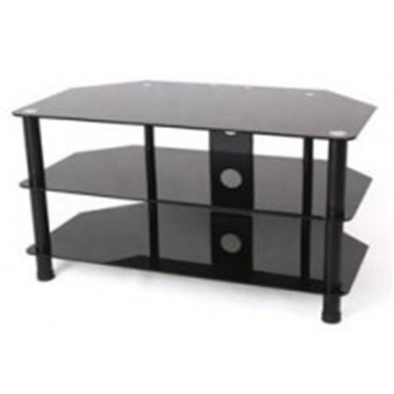 Glass Tv Stand Black