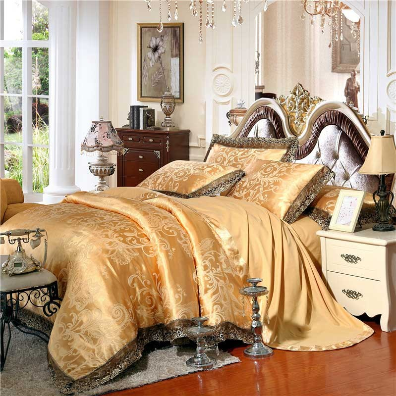 Gold And White Comforter Set