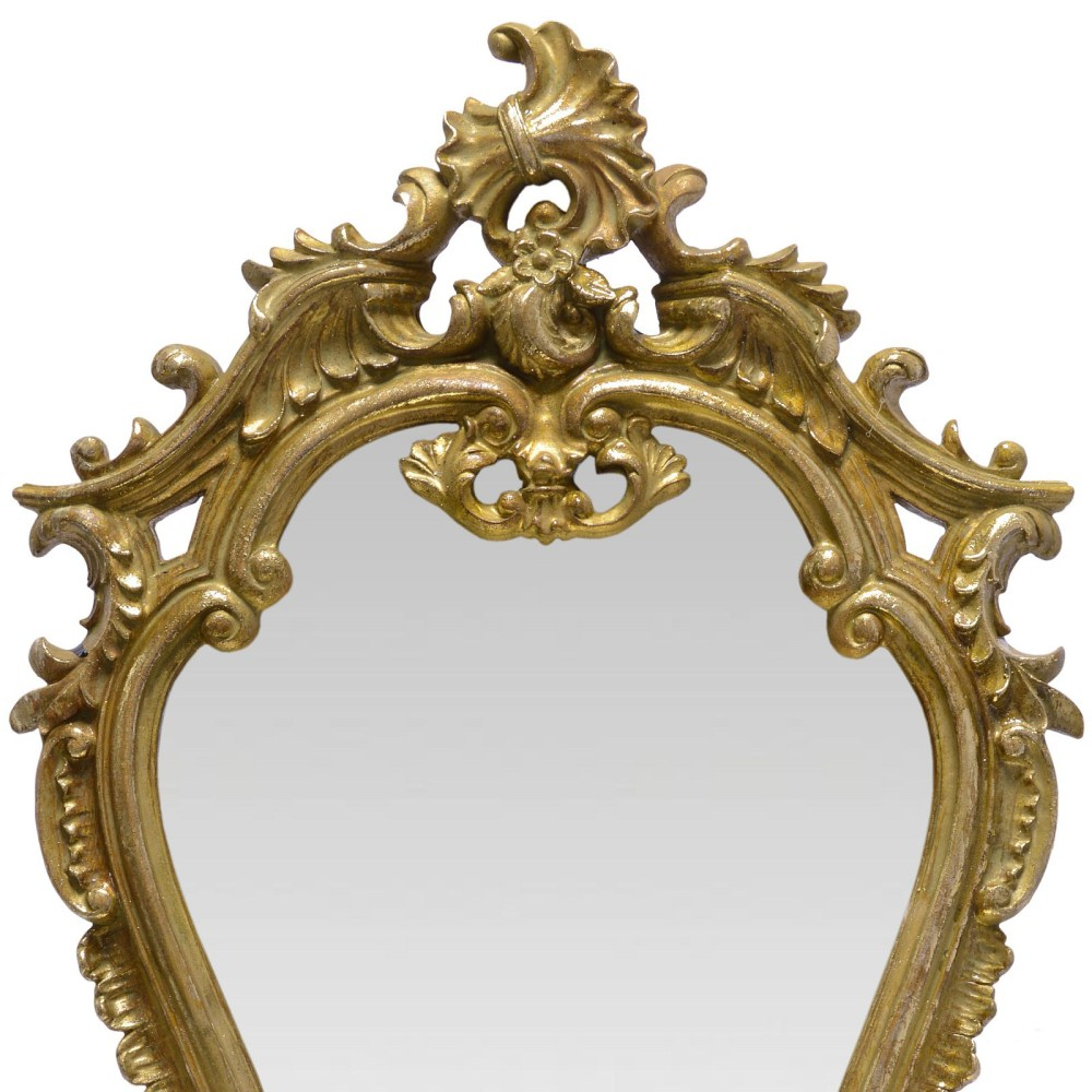 Gold Bathroom Mirror With Shelf