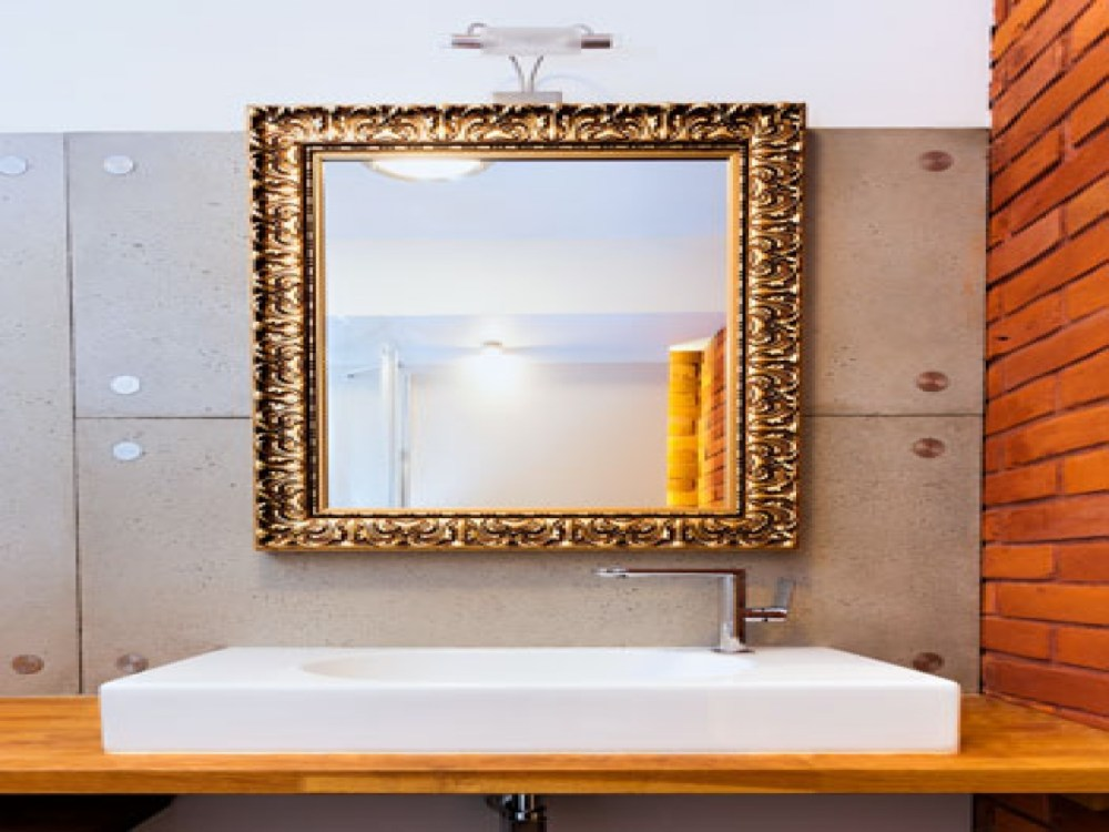 Gold Bathroom Mirrors