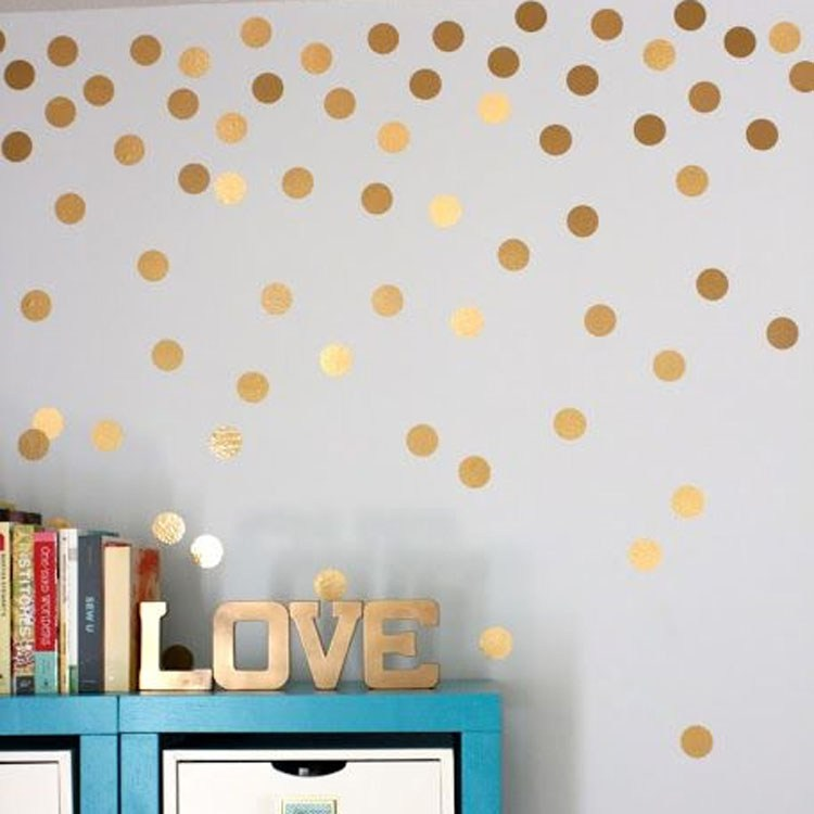 Gold Circle Wall Decals