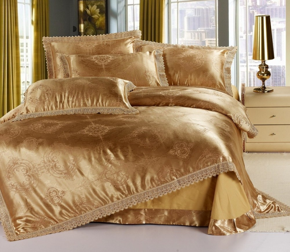 Gold Comforter Set Full