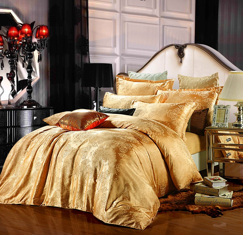 Gold Comforter Set King