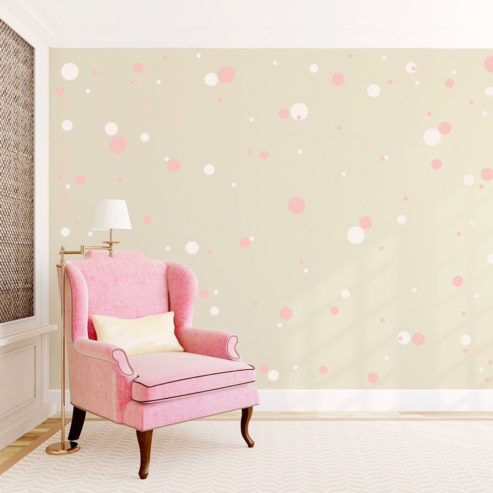 Gold Dots Wall Decals