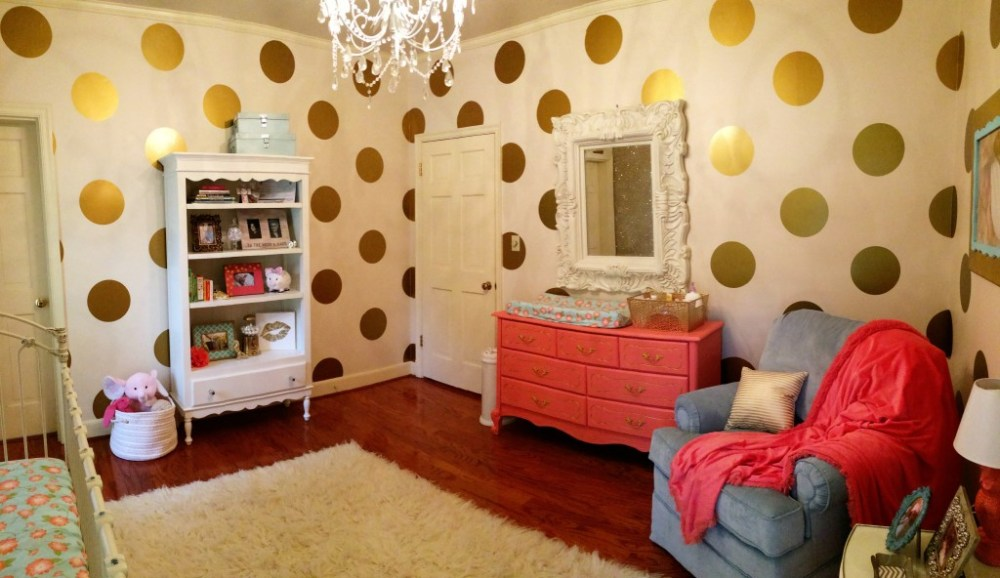Gold Glitter Wall Decals