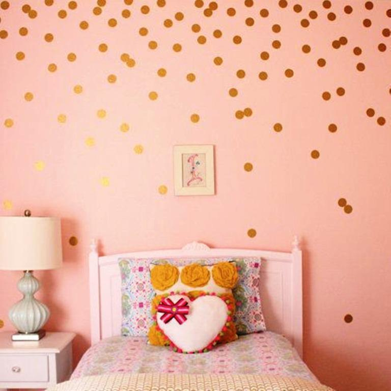 Gold Metallic Wall Decals