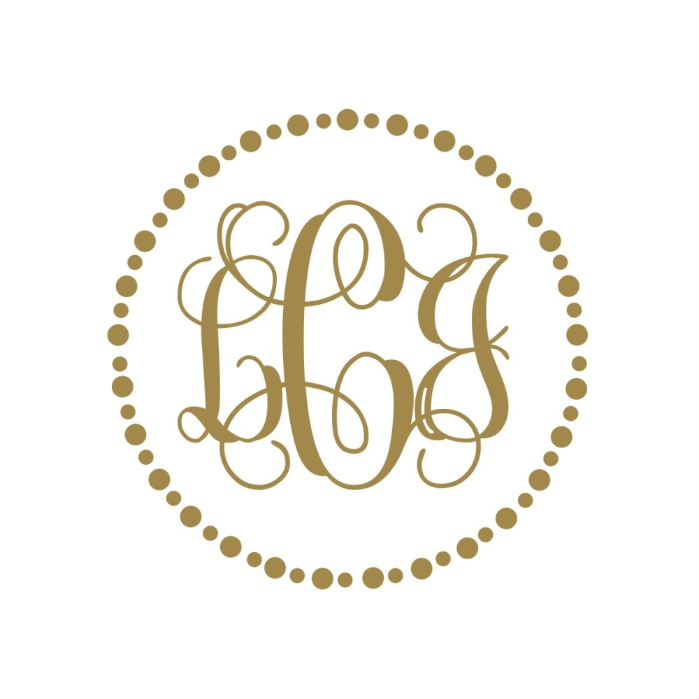 Gold Monogram Wall Decal