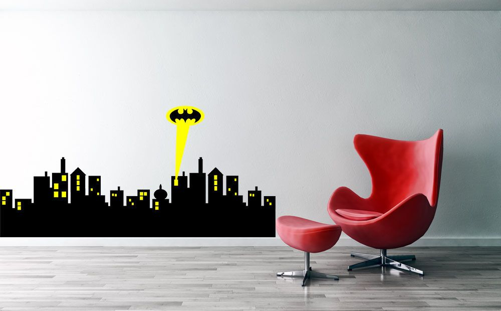 Gotham City Skyline Wall Decal