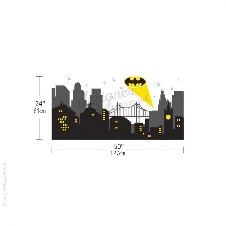 Gotham Cityscape Wall Decal