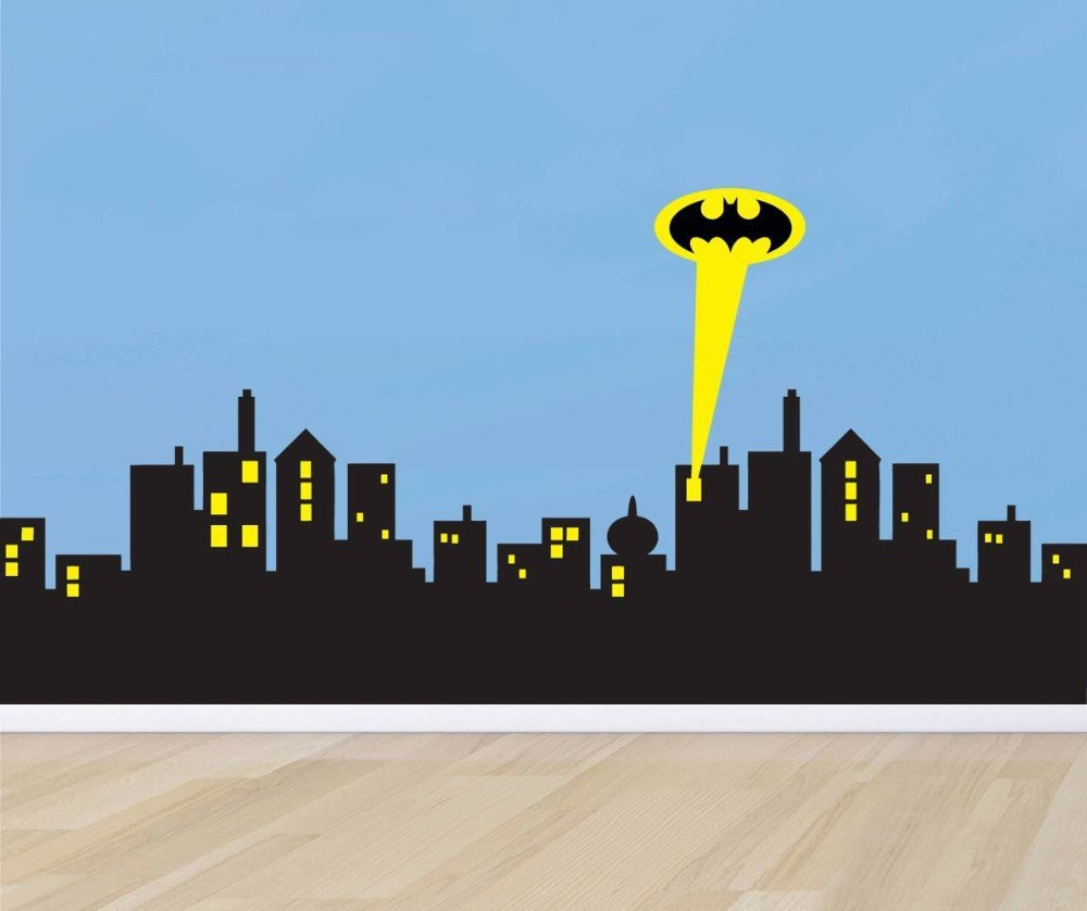 Gotham Skyline Wall Decal