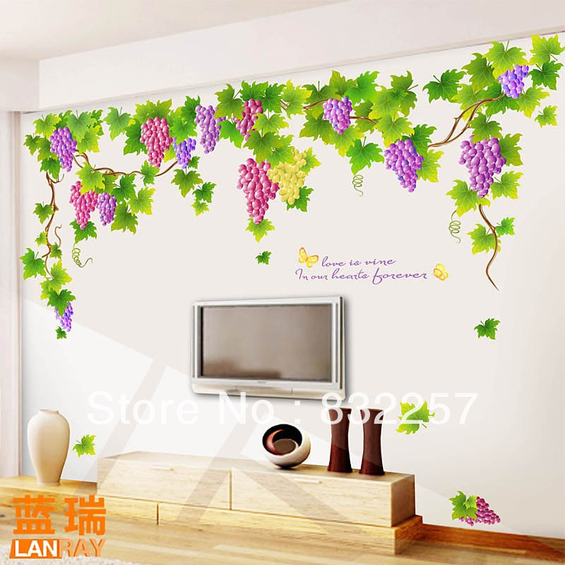 Grape Vine Wall Decals
