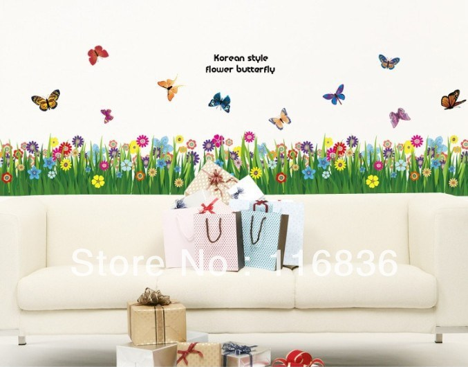Grass And Flower Wall Decals